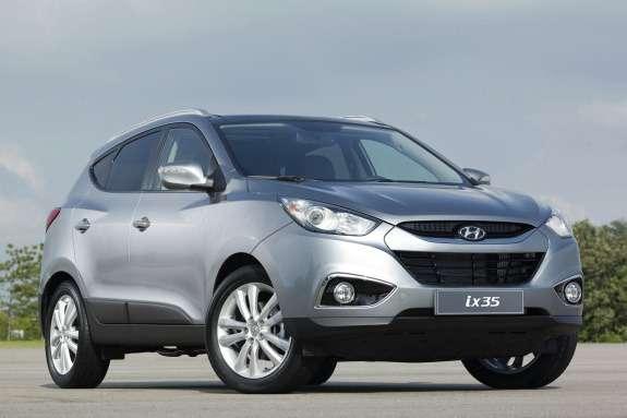 Curent Hyundai ix35 side-front view
