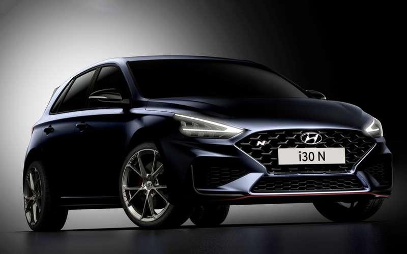 Первые изображения обновленного Hyundai i30N