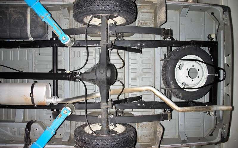 Запасное колесо подднищем