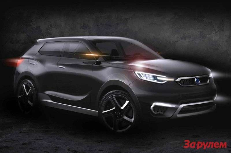 SsangYong SIV-1 sketch side-front view