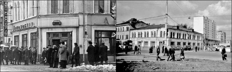столичный магазин «Автомобили» наБакунинской, 1960г.
