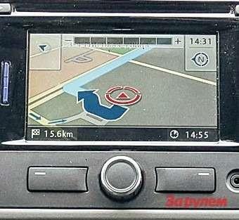 Volkswagen Caravelle Навигация вМоскве работает сносно. Нояпользуюсь смартфоном— показывает пробки.
