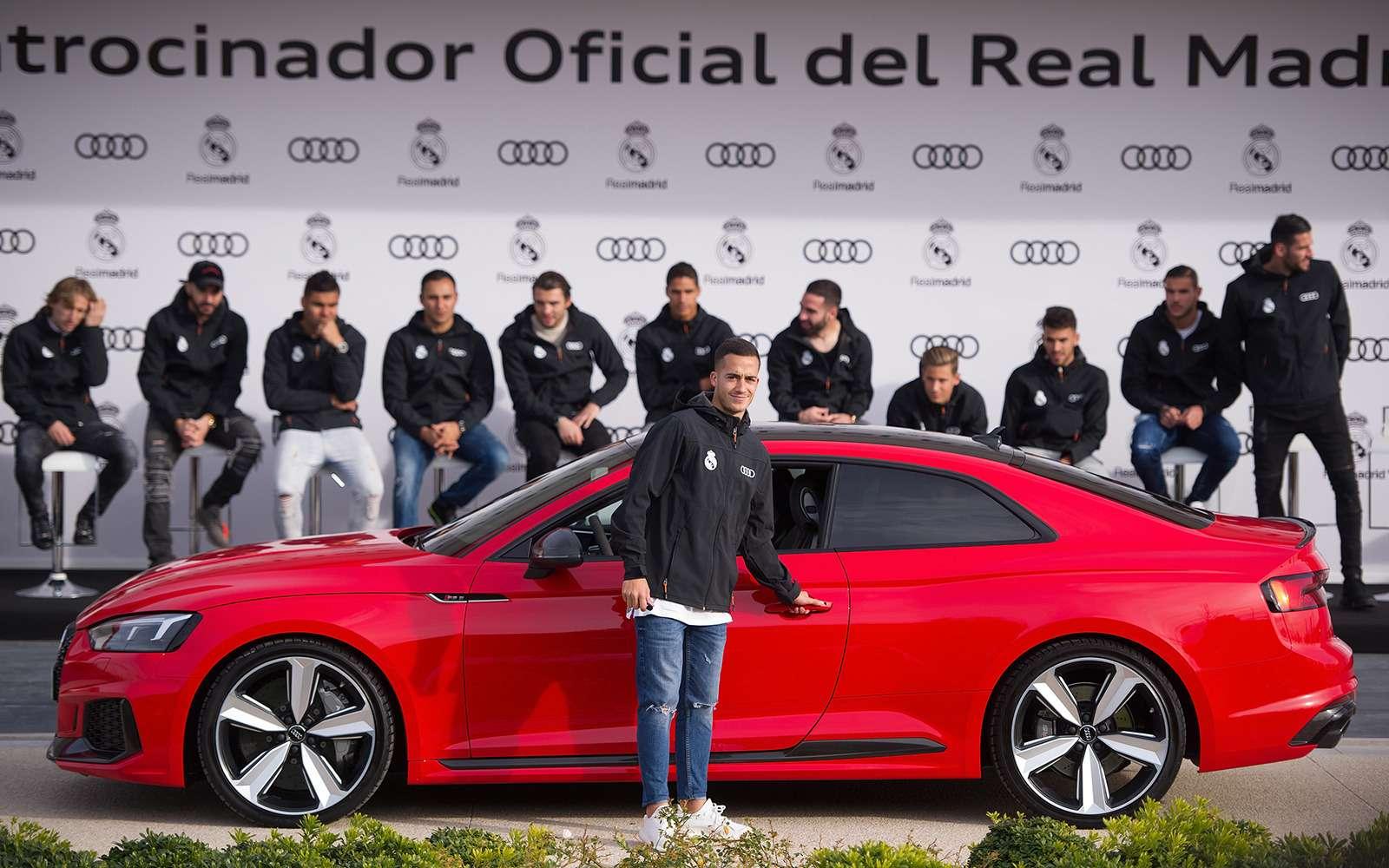 Вотэто спонсор! Audi раздала футболистам «Реала» машины— фото 819844
