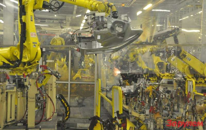 Хёндэ Мотор Мануфактуринг РусХёндэ Мотор Мануфактуринг Рус.Сварка после моденнизации