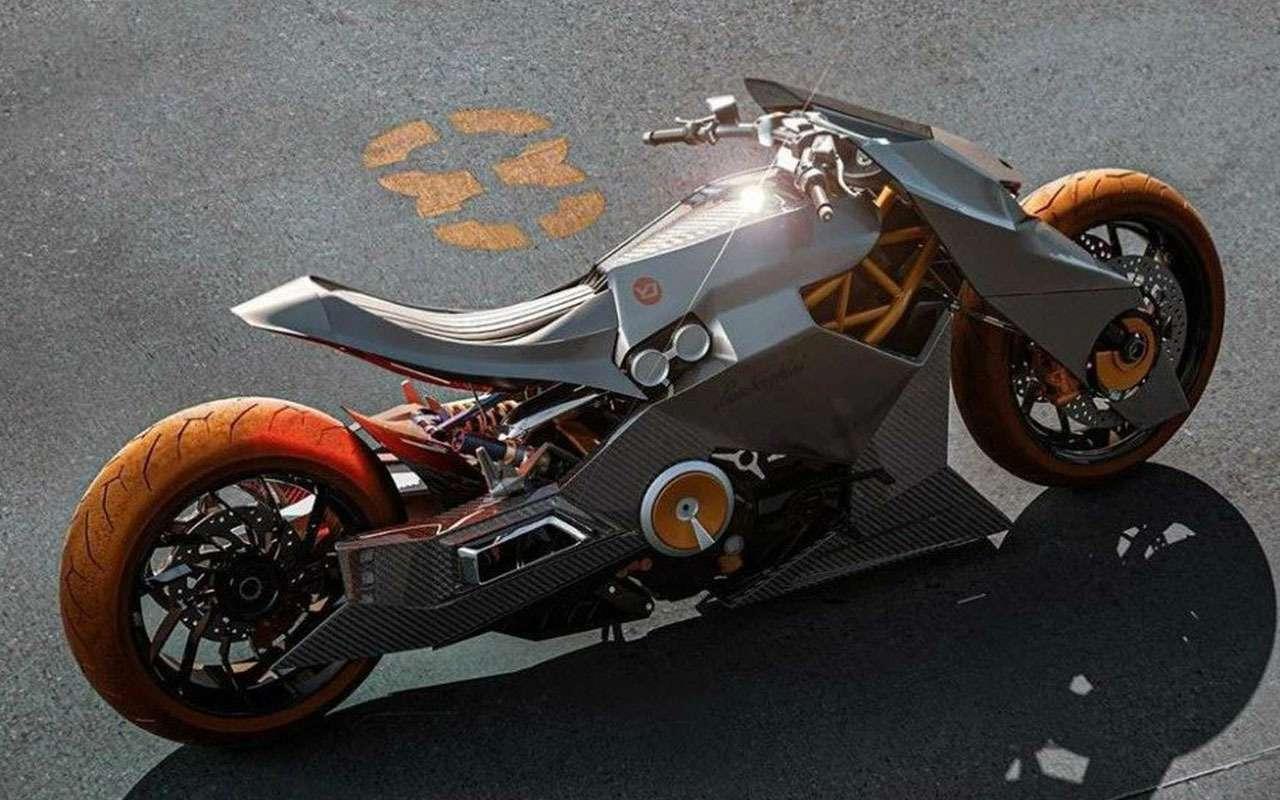 Мотоцикл Lamborghini: вот так онможет выглядеть— фото 1200504