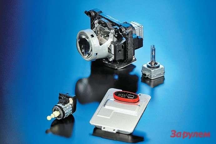 Комплект ксеноновой оптики: линзованный модуль, балласт, лампа