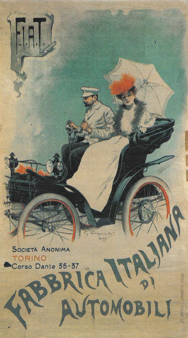 3 fabbrica italiana di automobili 1899 no copyright
