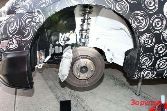 Toyota FT-86 race car front suspension