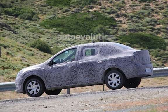 Next Dacia Logan test prototype side view