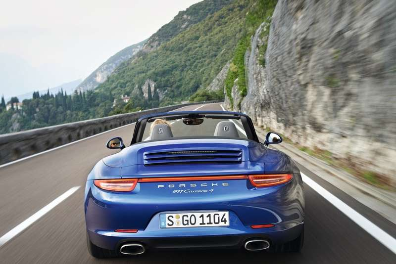 Porsche 911 Carrera 4Cabriolet rear view_no_copyright