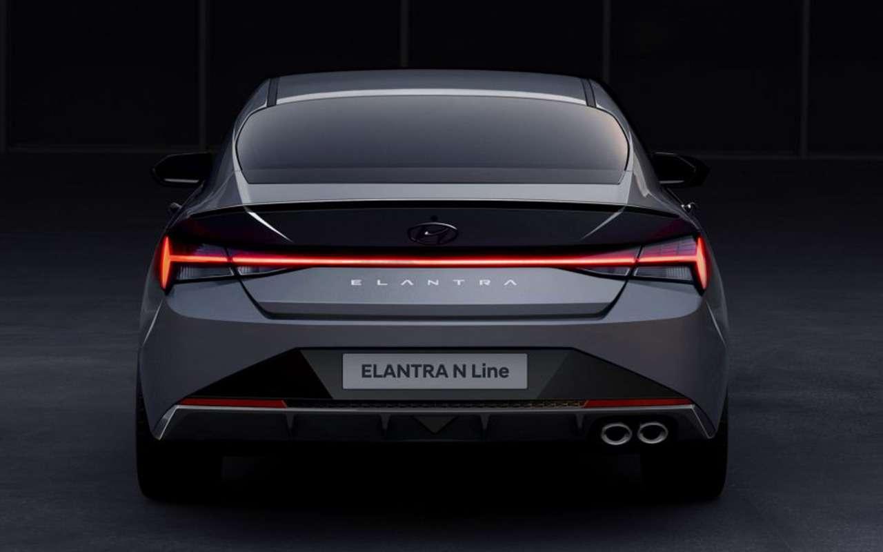 Hyundai показала свежие тизеры Elantra NLine— фото 1143835