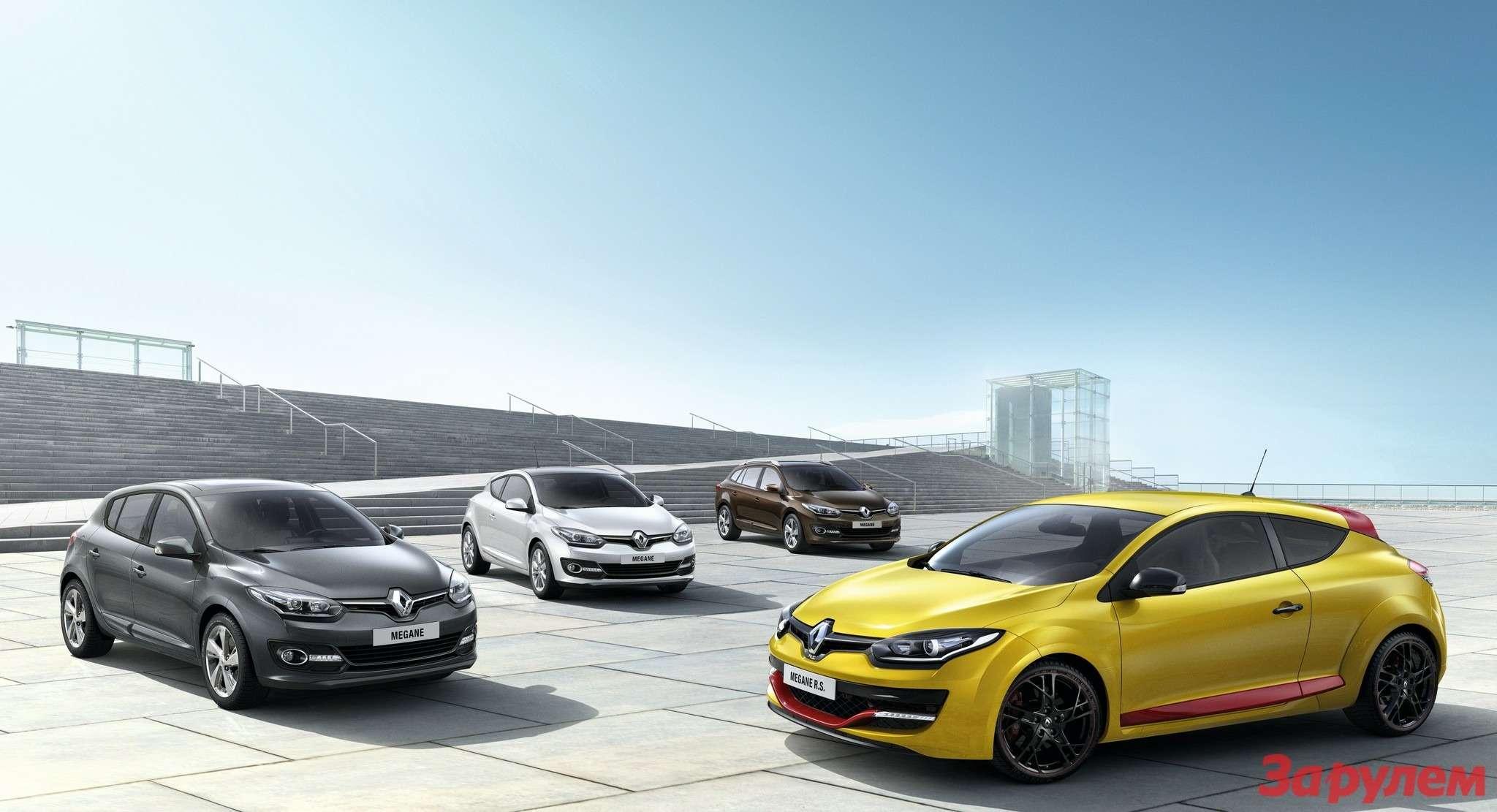 Обновленное семейство Renault Megane