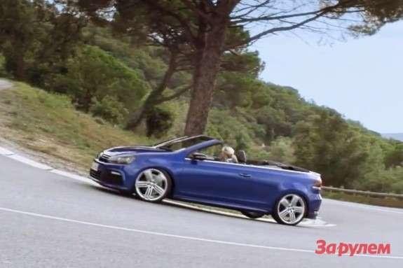 Volkswagen Golf RCabriolet side view