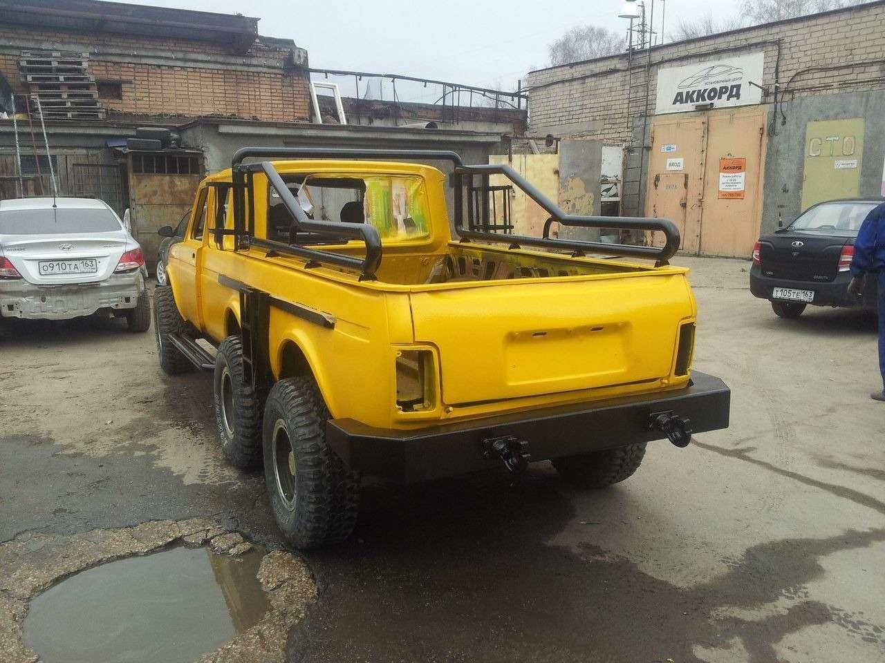 Шестиколесный пикап Lada создан вСамаре— фото 367943