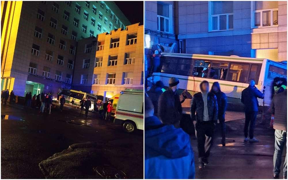 Автобус врезался вздание университета вНовгороде