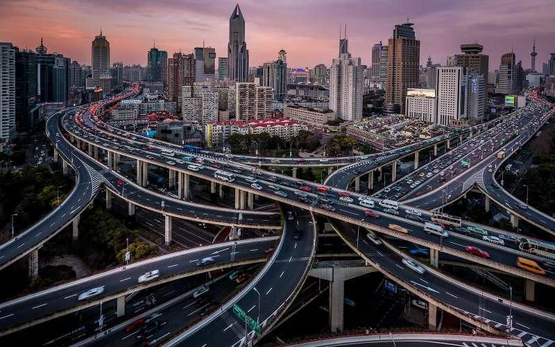 Виадук Пуси, Шанхай, Китай