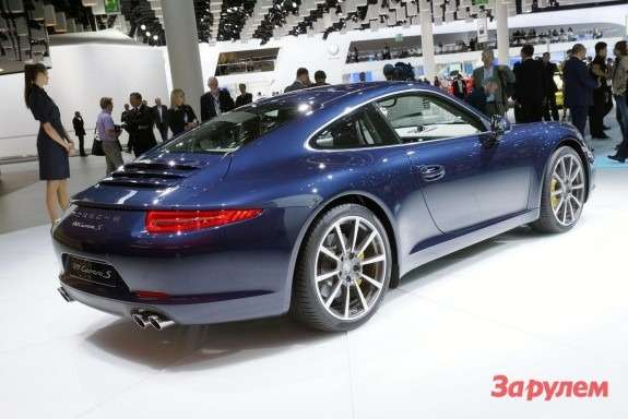 Porsche 911 Carrera S side-rear view