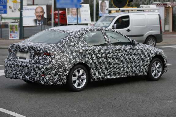 New Lexus IS test prototype side-rear view 2 no_copyright