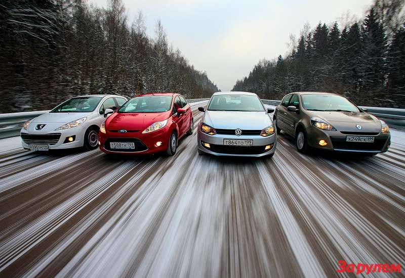 Peugeot 207, Ford Fiesta, Renault Clio, Volkswagen Polo