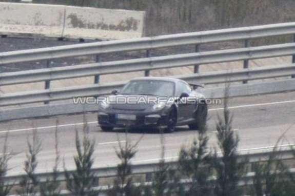 Porsche 911GT3 test prototype side-front view