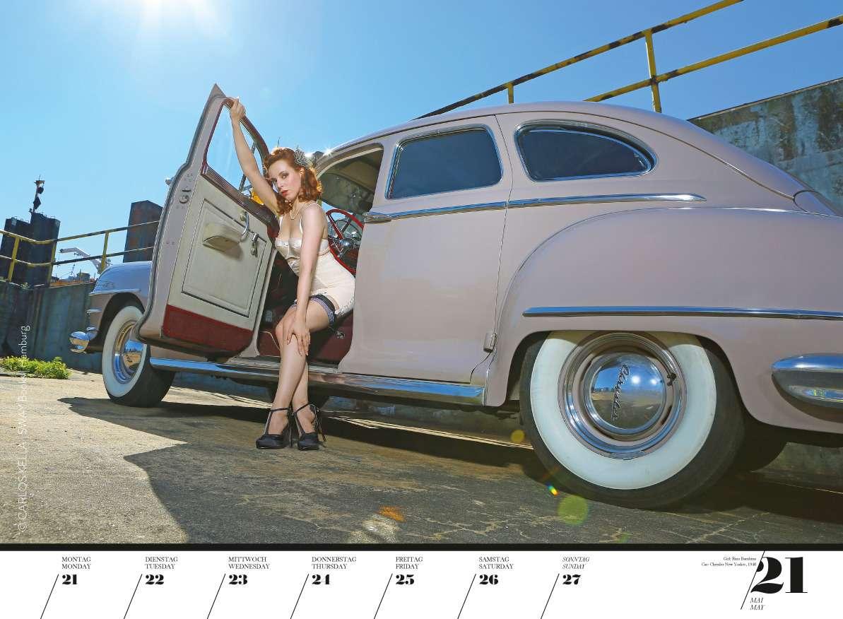 Юбилейный пин-ап календарь: девушки илегендарные машины— фото 798218