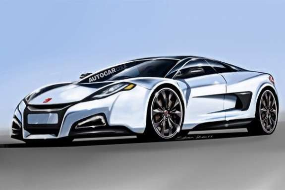 Rendering of the next Honda NSX by Autocar