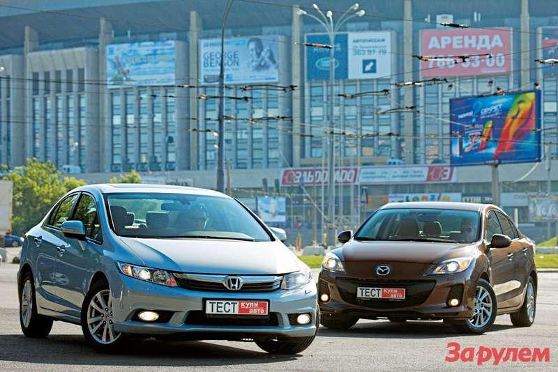«Хонда-Сивик», от 749 000 руб., КАР от 7,35 vs «Мазда-3», от 628 000 руб., КАР от 7,06