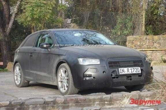 Audi A33-door hatchback side-front view