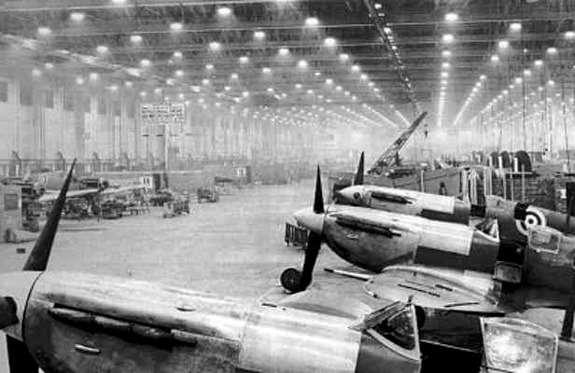 Производство самолетов вКасл-Бромвич ввоенное время