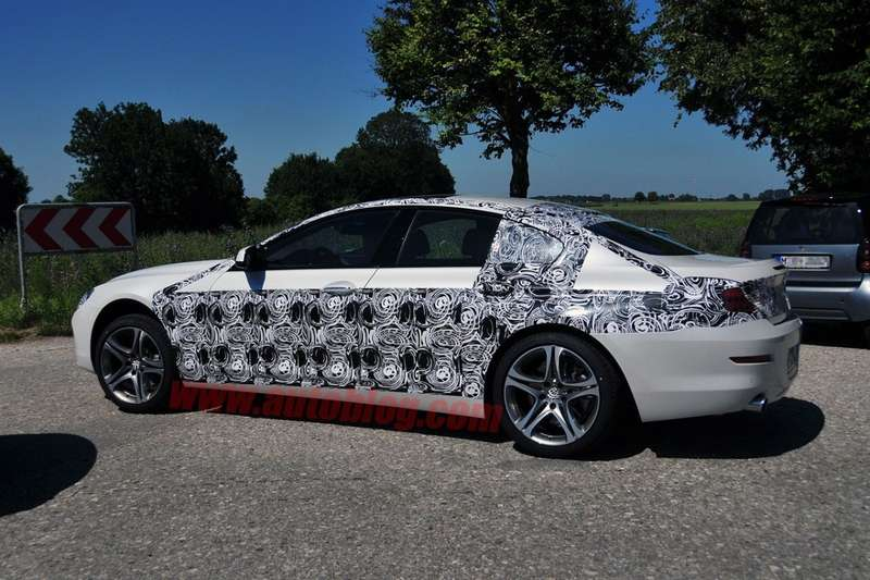 BMW 6-Series GT spy shot side view