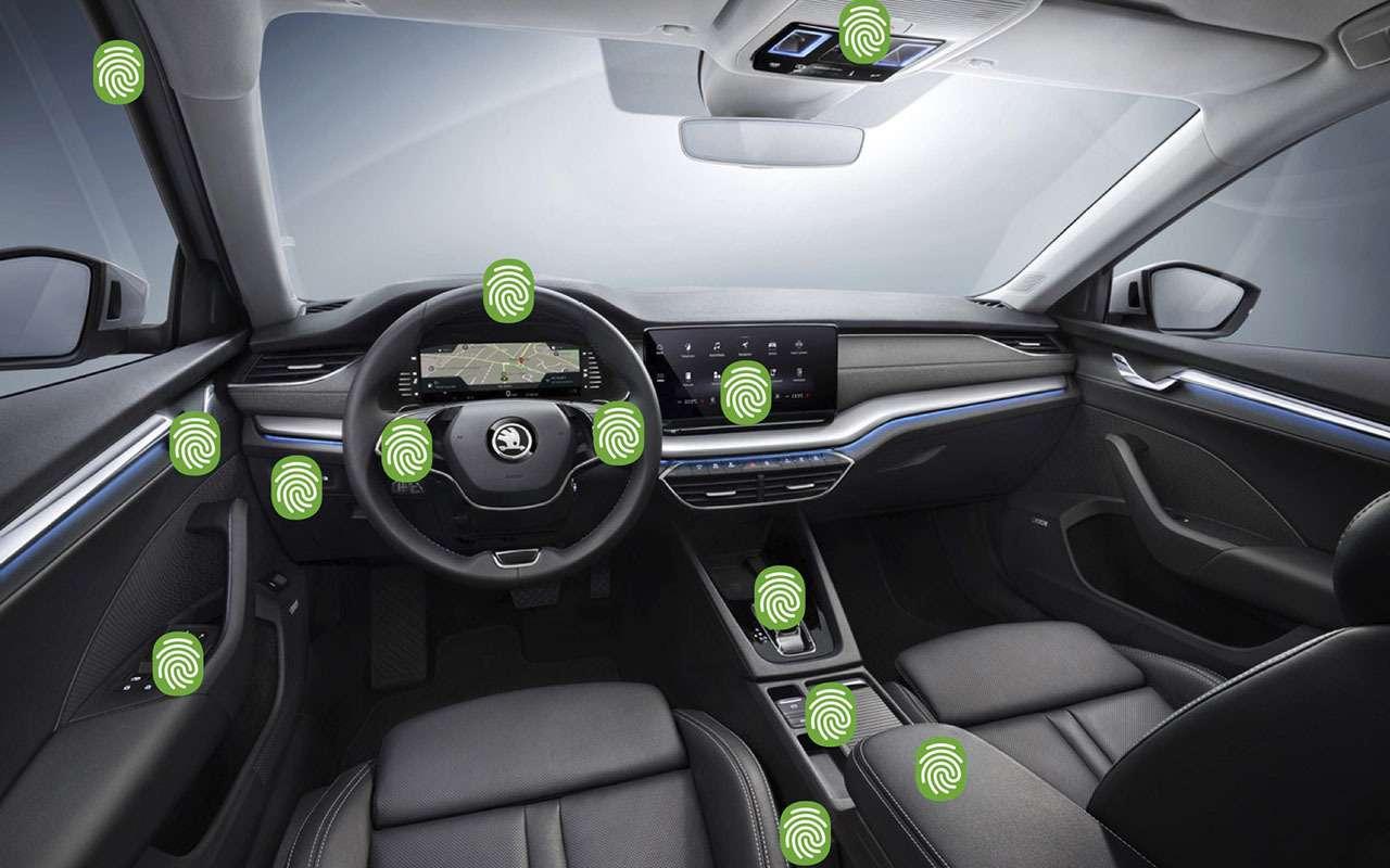 Skoda напомнила, какие места вавтомобиле самые «захватанные»— фото 1103645