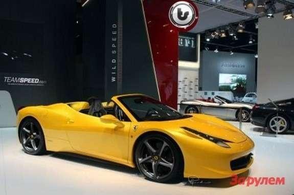Ferrari 458 Spider rendering side-front view