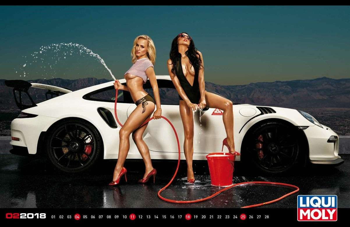 Девушки ипрокачанные тачки— календарь Liqui Moly на2018год— фото 806366
