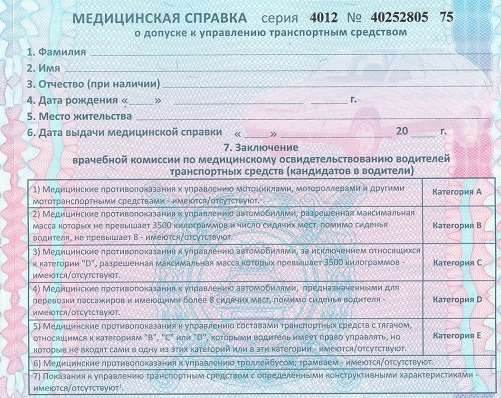 медики смогут приостанавливать действие водительского удостоверения, а водителям нужно будет возить с собой медицинскую справку и предъявлять ее инспекторам ДПС