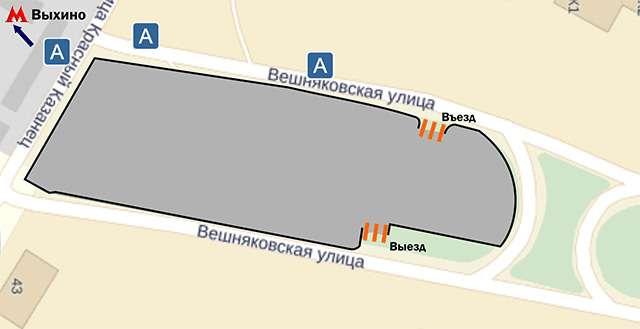 карта паркинг метро