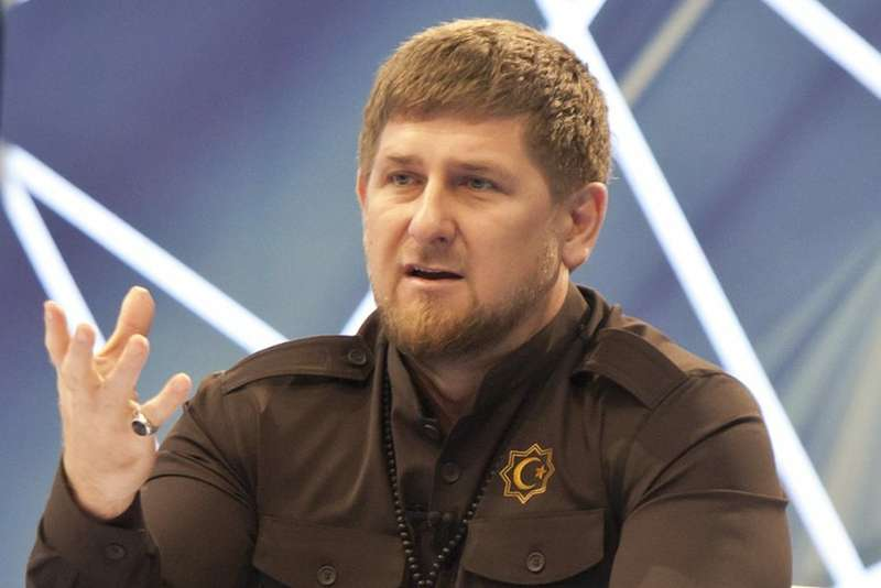 Chechen leader Kadyrov gives press conference