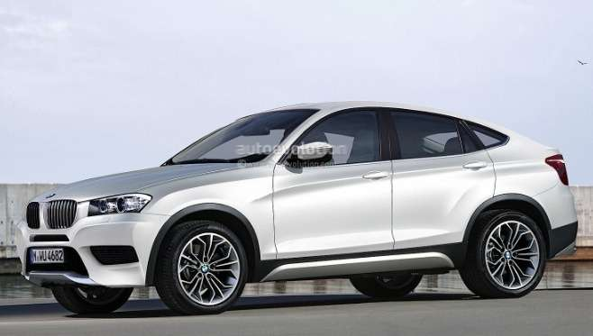 BMWX4rendering side front view nocopyright