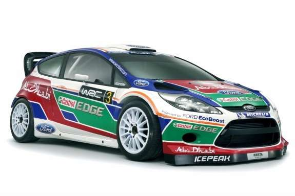 Ford Fiesta RS WRC side-front view