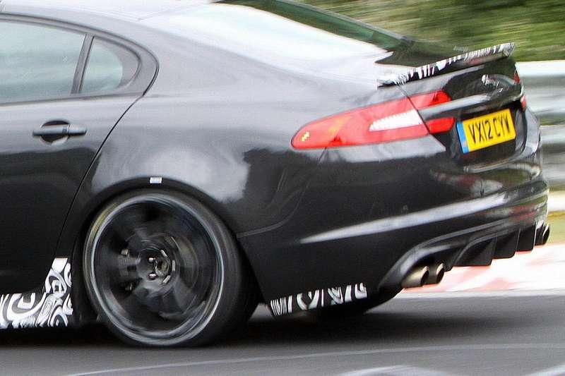 Jaguar XFR-S test prototype rear end_no_copyright