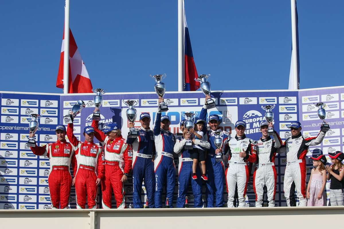 LMGTC podium— 4Hours ofPaul Ricard atPaul Ricard Circuit— LeCastellet— France