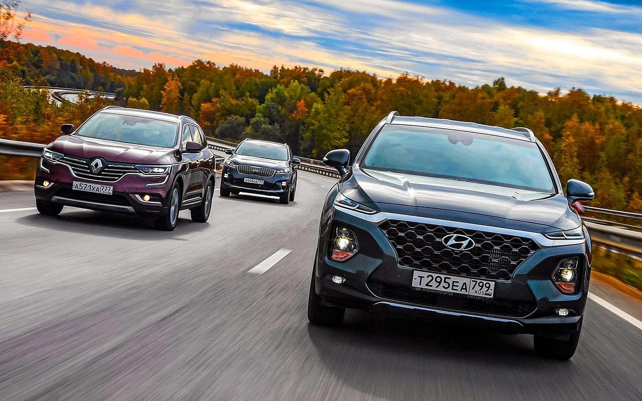 Hyundai Santa Feпротив конкурентов: большой тест кроссоверов— фото 931452
