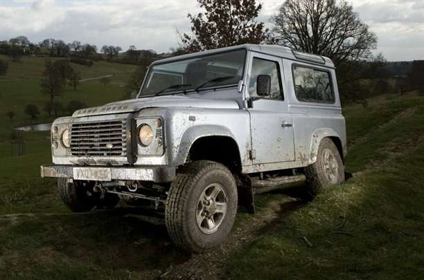 Land Rover Defender SWB Silver 07 plate Stan Papior
