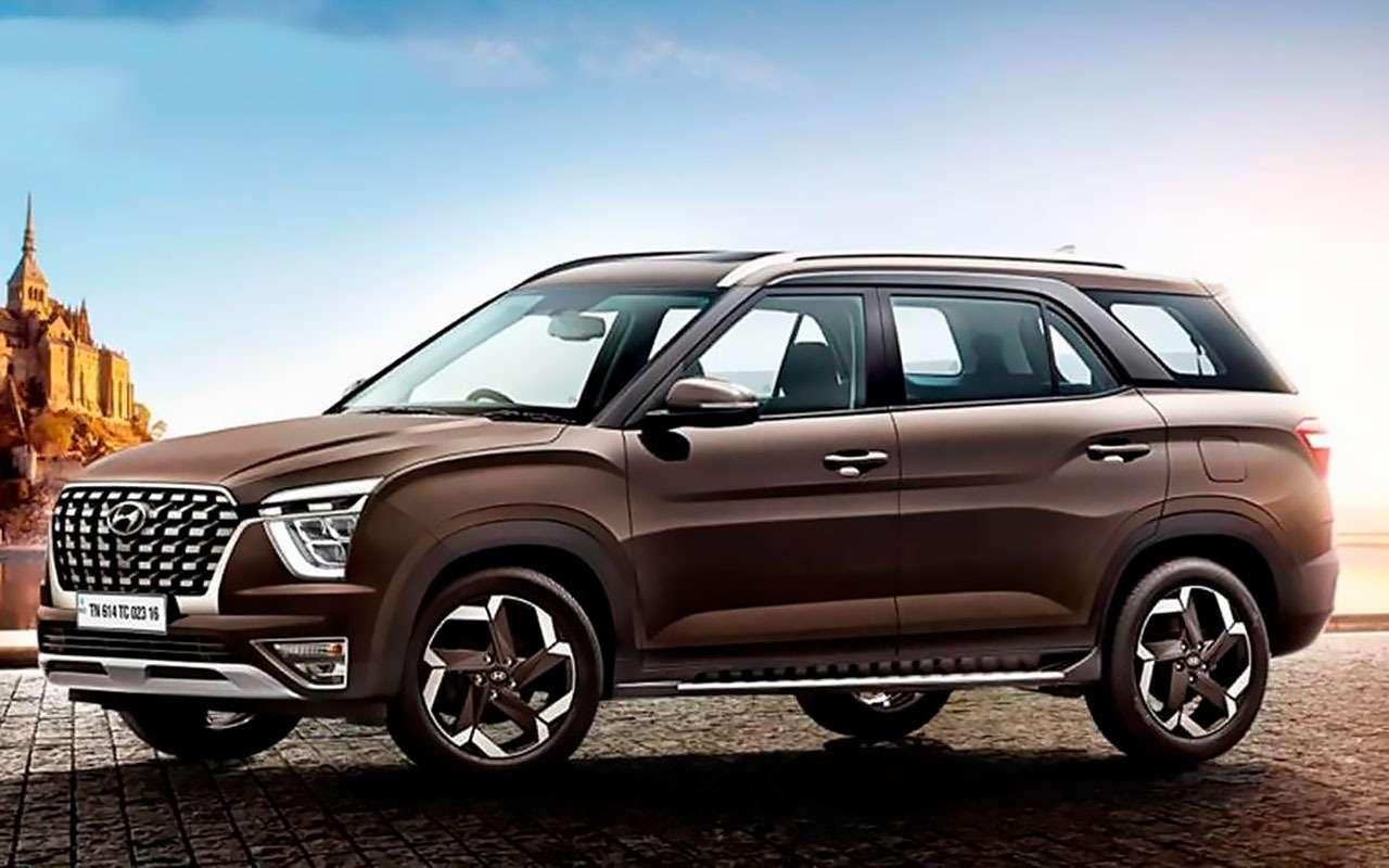 Hyundai Alcazar— новая семиместная Creta— фото 1237933