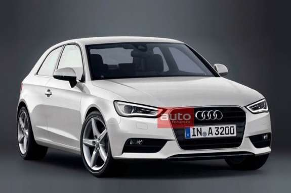 New Audi A3 side-front view