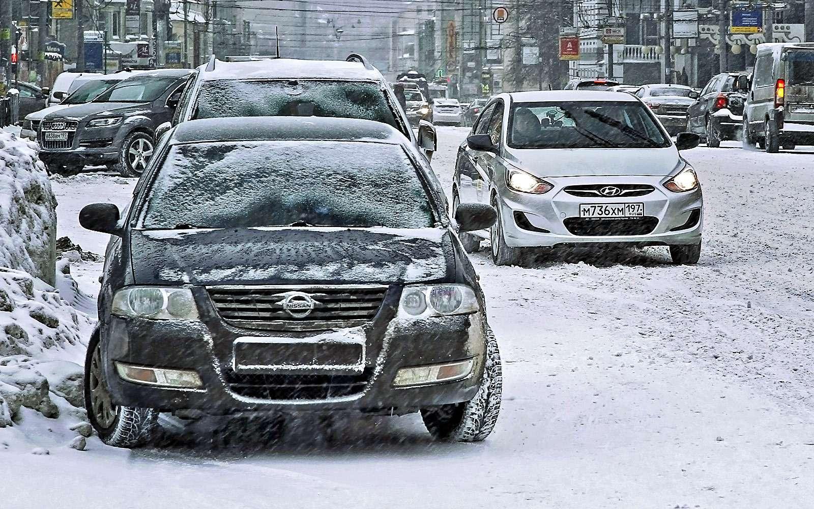 Парковка зимой