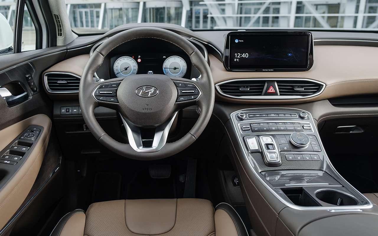 Новый Hyundai Santa Fe: 7важных отличий отKia Sorento— фото 1241386