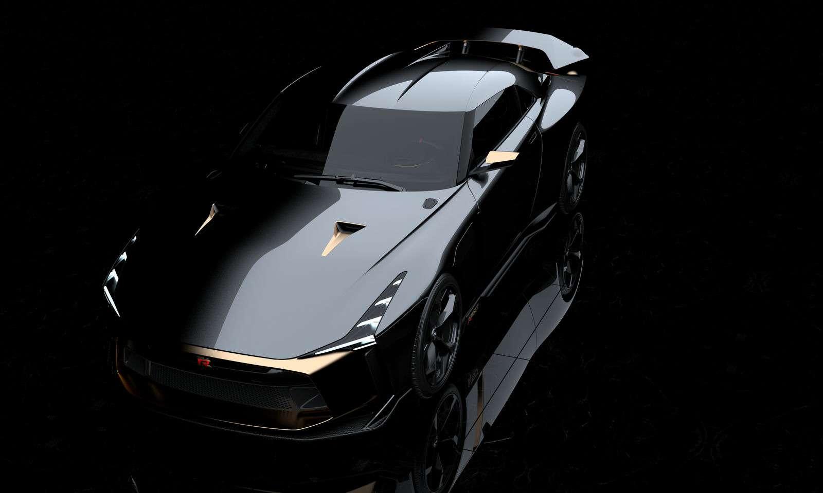 Золотой стандарт: Nissan иItaldesign представили юбилейный GT-R— фото 882716
