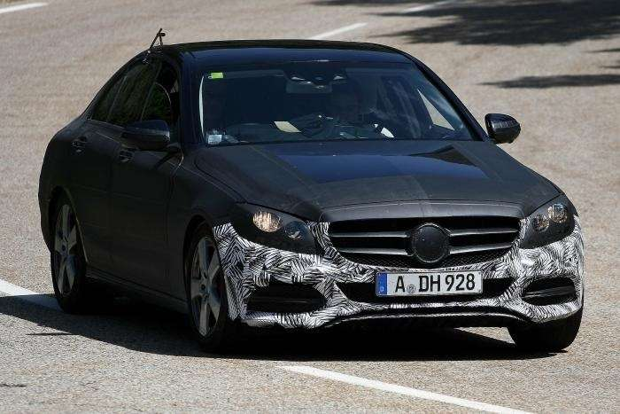 mercedes c class spy shot front no copyright