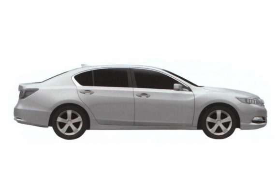 Acura RLX patent image side view
