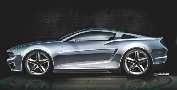 Next Ford Mustang rendering by Sean Smith side view